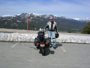 Frank at the Snowy Galena Pass Overlook