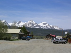 View from Stanley, ID of the Sawtooth Range