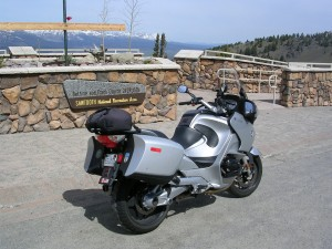 At the overlook of Galena Pass