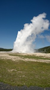Old Faithful Geyser, Photo by Frank Bartlett