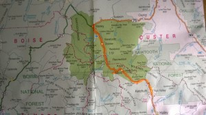 Sawtooth Mt. Ride Map