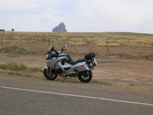 The Silver Streak with Shiprock in the distance