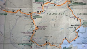 Yellowstone Ride #1,Route Map
