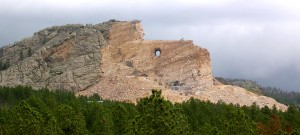Crazy Horse Memorial--Seen from the Observation Deck