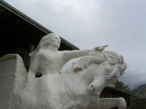 Crazy Horse Memorial Scale Model