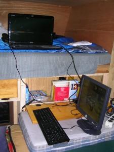 Computer Set-up in the Badger Den