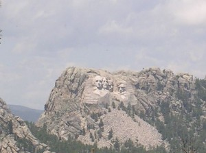Mt. Rushmore as seen from the Iron Mt. Rd.