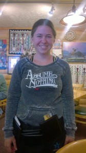 Danielle, our server
