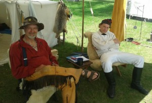Re-enactors at Lewis and Clark State Park